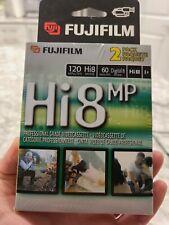 SEALED Fuji Hi8 MP P6-120 Professional Grade Videocassette (2 Blank Tapes)