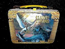 RARE 1980 Vtg Metal CLASH OF THE TITANS Thermos Lunchbox The Kracken Pegasus NM