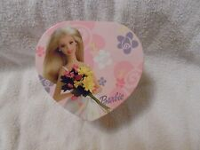 "COLLECTIBLE 2000 BARBIE HEART SHAPED MUSIC BOX  ""LET ME CALL YOU SWEETHEART""GIFT"