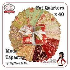 Tapestry Quilting Fabrics Moda Fat Quarter Bundle Quilt Fabric Quarters Squares