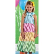 Mud Pie Chevron Colorful MAXI DRESS Baby Girls Size 12-18 Months NWT