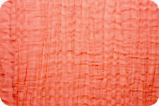 Shannon Fabrics Embrace Double Gauze - Coral Solid - by the yard & custom cuts
