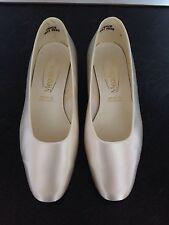Ivory Satin Shoes Size 4