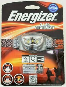 NEW Energizer Vision 3 LED Torch Headlight with 3 AAA Max batteries    #W78-4