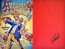 Stan Lee~SIGNED~Amazing Fantastic Incredible: A Marvelous Memoir~1st/1st+Photos!