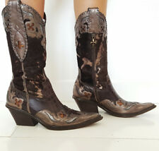 Donald J. Pliner Boots Size 8.5 Western Couture Collection Calf Leather BOHO