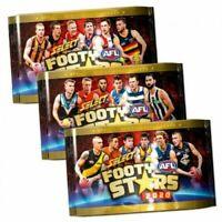1 x 2020 AFL SELECT FOOTY STARS SEALED PACKS 9 TRADING CARDS RANDOM PICK