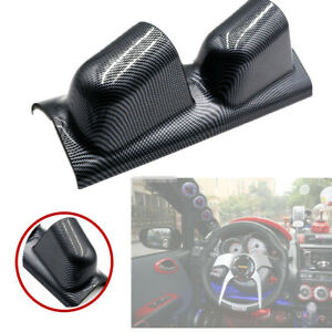 "Universal High Quality 2"" Dual Gauge Holder Carbon Fiber Left Side Gauge Pod"