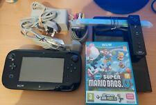 Nintendo Wii U Black Console - MarioKart 8 & New Super Mario Bros U Bundle