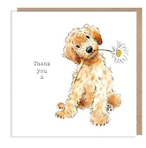 Thank you Card - Quality Greeting Card - Cockapoo illustration - made in UK