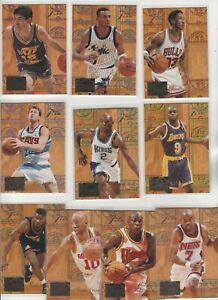 90's COMPLETE INSERT SET 1-10 1994-95 FLEER FLAIR PLAY MAKER PENNY PIPPEN STOCK