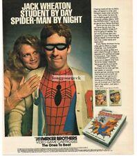 1983 Parker Brothers SPIDERMAN Video Game Cartridge Vtg Print Ad