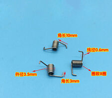 Wire Dia 0.6mm OD 3.5mm Miniature Torsion Spring 10Pcs