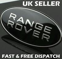 Range Rover Black & Silver Sport Front Grille Badge Land Rover Black Custom