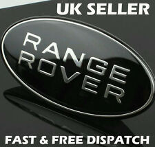 Range Rover Black & Silver Sport Front Grille Badge Land Rover Black Custom