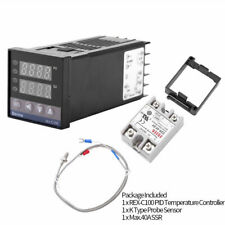 Pid Rex C100 Temperature Controller Ssr 40a K Type Thermocouple Heat Sink Kit Us