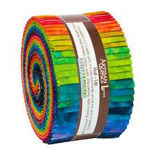 Kaufman Batik Fabric Strips Jelly Roll Rollup, PATINA HANDPAINTS, RU-852-40