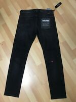 NWD Mens Diesel THOMMER SOFT Stretch Denim 0687J BLACK Slim W31 L30 H6 RRP£170