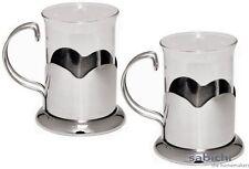 Sabichi Lotus Coffee Glass Mugs Set Of 2 Tea Coffee Kitchen Home New