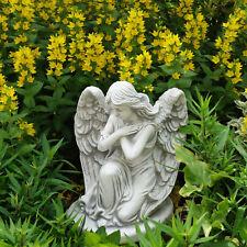 Dekofigur Engel Junge mit Engelsflügeln Grabengel Grabschmuck Dilton