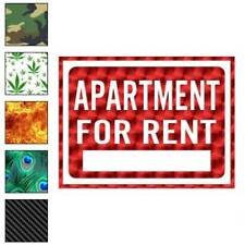 Apartment For Rent Business Decal Sticker Choose Pattern + Size #4003