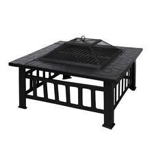3IN1 Fire Pit BBQ Grill Pits Outdoor Patio Garden Heater Fireplace BBQS Grills