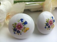 Ceramic White with Floral Door Knob (Interior) Great Condition and Backplate