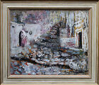 PAULINE GLASS 1908-1992 MODERN BRITISH SPANISH WEDDING ART OIL PAINTING ART1950