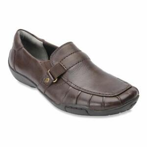 Ros Hommerson Womens Cynthia Leather Closed Toe Loafers, Brown, Size 7.5 B8Hm