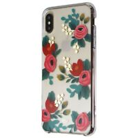 Rifle Paper Hardshell Case for Apple iPhone XS Max Smartphones - Red Floral
