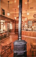 Postcard Old Fashioned Drug Store Disneyland California CA pot-bellied stove