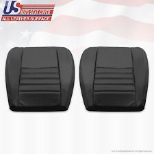 2002 Ford Mustang Driver & Passenger Bottom Perforated Leather Seat Cover Black