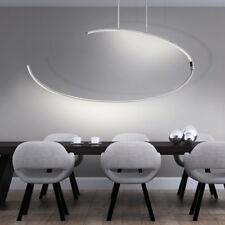 27W LED Decken Hänge Leuchte gebogen Wohn Ess Schlaf Zimmer Luxus Pendel Lampe