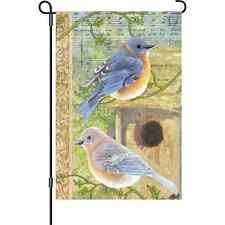 "Musical Bluebirds (12"" x 18"" Approx ) Garden Size Flag Pr 56139"