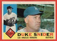 1960 Topps #493 Duke Snider EX-EX+ WRINKLE Los Angeles Dodgers FREE SHIPPING