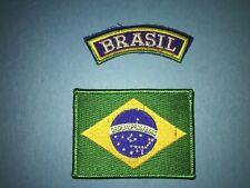 2 Lot Brazil Brazilian Jiu Jitsu Grappling Martial Arts Mma Uniform Patches 648