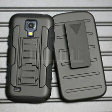 Shockproof Hybrid Rubber Holster Phone Case Cover For Samsung Galaxy S4 Mini