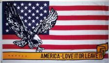 3x5 Usa American Eagle Love It Or Leave It Flag 3'x5' Brass Grommets
