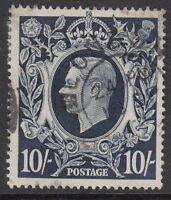 GB : 1939  10/- dark blue   SG478  fine  used cds cancel