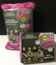 Pink Camo Duck Dynasty  5pc FULL Bedding Set Girls Camouflage Comforter Sheets