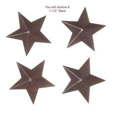 "8 Primitive Rusty Tin Look . 1-1/2"" Dimensional Barn Stars ~ Crafts"