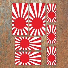 Rising Sun Japanese Flag Laminated Sticker Set Car Motorcycle JDM Honda Decals B
