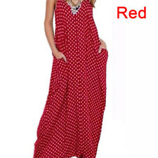 Plus Size Women's Deep V Neck Polka Dot Cocktail Evening Party Long Maxi Dress