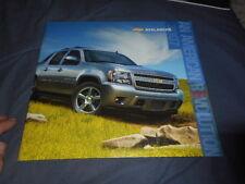 2007 Chevy Chevrolet Avalanche Pickups SUV Brochure Prospekt