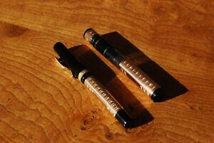 Visconti Voyager Moonlight fountain pen & Traveller's Inkwell. Medium. Fantastic