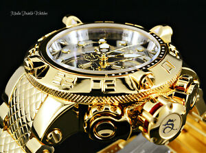 Invicta 50mm The Subaqua Swiss Chronograph Gold Mirror Dial High Polished Watch