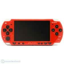 Sony PSP / Playstation Portable - Konsole 2000er #rot / Deep Red + Stromkabel