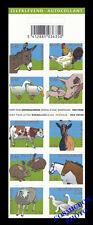 Carnet de 10 timbres Les ANIMAUX FAMILIERS Belgique la ferme Belgium farm stamps