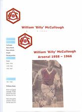 BILLY McCULLOUGH ARSENAL 1958-1966 ORIGINAL HAND SIGNED PICTURE CUTTING