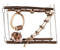 Trixie Natural Living Suspension Bridge Small Pet Toy Exercise Play Wood Rope